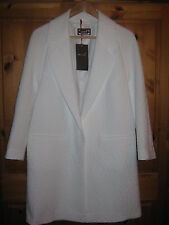 RRP£99 PER UNA M&S LADIES WOMENS WHITE IVORY COAT JACKET UK 12 EU 40 WEDDING