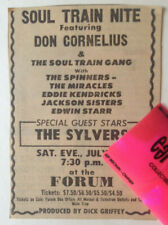SOUL TRAIN CONCERT 1973 Don Cornelius SYLVERS Miracles SPINNERS Original Ad