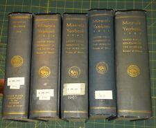 """1945 thru 1950 """"Minerals Yearbook"""" 5 years total. U.S. Bureau of Mines Hardbound"""