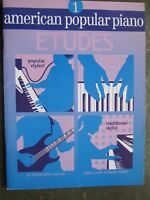 American Popular Piano Etudes Book 1 by Christopher Norton *NEW*