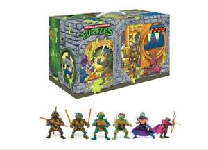 TMNT Retro Rotocast Sewer Lair PX Exclusive 6PC Action Figure Set - PREORDER