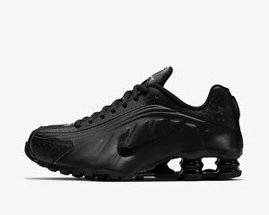 Nike Shox R4 BQ4000-001 TRIPLE BLACK WOMEN'S SHOES SNEAKERS Size 6, 6.5, 7, 7.5