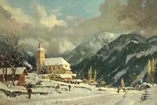 Thomas Kinkade - Winter Chapel     22 X 31 S/N Limited Edition Paper