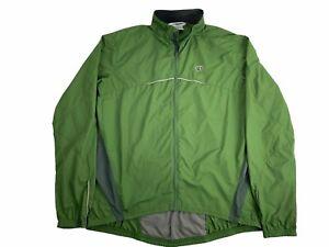 Pearl Izumi XL Green Windbreaker Cycling Jacket Vented Reflective Packable