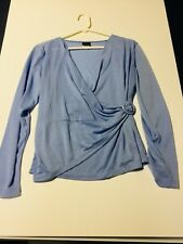 Ladies blue knit any occasion long sleeved top size S