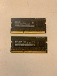 Apple Imac ELPIDA 8GB RAM 2x4Gb 1600MHz PC3L-12800S-11-12-B4 MEMORY DDR3 204 Pin