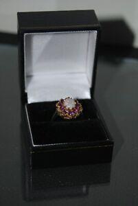 9 Ct Gold Opal & Amethyst Dress Ring