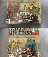 Transformers Robot Heroes - 2x Doppelpack: Bumblee, Rampage Hasbro 2008 Neu Moc