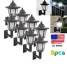 Solar Power LED Light Path Way Wall Landscape Mount Garden Fence Lamp Outdoor A8