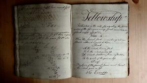 CIRCA 1794 HANDWRITTEN CYPHERING BOOK COPY BOOK MANUSCRIPT MATHEMATICS 34 pp