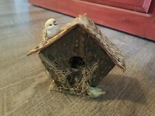 """Vintage Style Wood Natural Handcrafted Hand Made Small House 4"""" inch Tall"""
