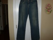 Ladies Size 8 Lucky Brand Dungarees Button Up Jeans In A Washed Blue