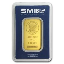 1 oz Sunshine Minting Gold Bar - MintMark SI™ Security Feature - SKU #72471