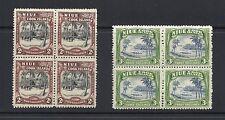 NIUE 1944-6 pictorials 2sh,3sh blocks/4 VF MNH