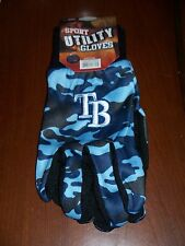 Tampa Bay Rays Camouflage Work/Utility Gloves NWT Lt Blue/Dk Blue/Black