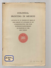 colonial printing in mexico - 1939