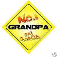 No.1 Grandpa On Board Novelty Car Sign Birthday Gift