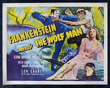 FRANKENSTEIN MEETS THE WOLF MAN * CineMasterpieces ORIGINAL HORROR MOVIE POSTER
