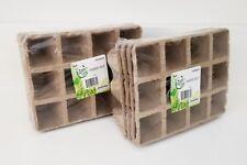 8 Packs x Gar den Ease Peat Pots Seed Starting Starter Plant 96 Cells