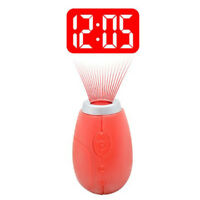 Mini Portable Tiny LCD Projector Digital Clock Projection Clock With Key Ring