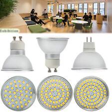 GU10 Bombillas LED Spot Luz de MR16 4 W 6 W 8 W 3528 SMD 220 V 12 V 24 V lámparas de cubierta de cristal