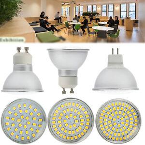GU10 MR16 LED Spot Light Bulbs 4/6/8 W 3528 SMD 220V 12V 24V Glass Cover Lamps