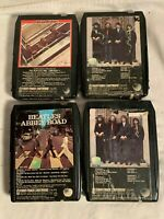 Lot 4 BEATLES 8 Track Cassette Tapes ABBEY ROAD (2)  HEY JUDE 1962-1966 Part 1