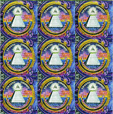 NOVUS ORDO SECLORUM BLOTTER ART sheet page tabs Acid Free Art psychedelic paper