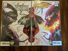 Amazing Spider-Man #800 & Venom #1 Mattina Connecting Signed Midtown Comics MINT
