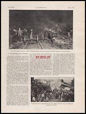 Doc.Ancien La Catastrophe de VILLEPREUX accident ferroviaire Train loco 1910 -3i