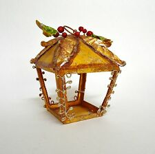 Rustic Metal Christmas Lantern Tea Light Candle Holder(s) Holiday Holly Berry