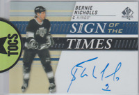 Bernie Nicholls 2019-20 SP Authentic Sign Of The Times Hard Signed Auto LA King