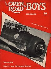 Open Road For Boys Magazine 1942 February Navy Training Plane/Basketball/Stories