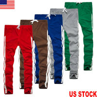 Men Straight Sport Pants Slim Fit Casual Trousers Running Joggers Gym Sweatpants