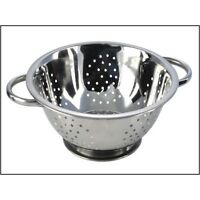 Pendeford 24 CM Silver Stainless Steel Deep Colander Vegetable Strainer