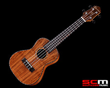 NEW CRAFTER UC-7CE ALL KOA CONCERT ELECTRIC UKULELE W/ UKE GIG BAG PRO SETUP