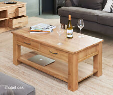 Mobel solid oak four drawer coffee table and felt pads