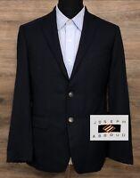 Joseph Abboud Men's Super 100s REDA Wool Navy Blue Blazer Sport Coat Jacket 38R
