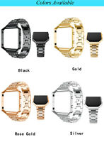 Rhinestone Watch Band Metal Strap Muti-color Replacement For Fitbit-Blaze