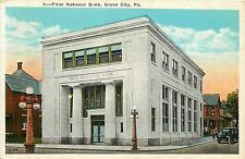 Vintage Postcard First National Bank Grove City PA Mercer County