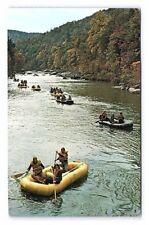 Vintage Postcard White Water Rafting Ohiopyle Pennsylvania