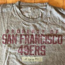 Practice Worn Alex Smith #11 T Shirt Property Of San Francisco 49ers.