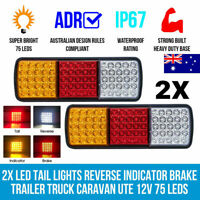 2 X 75 LEDS TAIL LIGHT TRUCK UTE TRAILER STOP INDICATOR CARAVANS LIGHTS AU