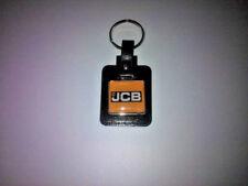 JCB Leather/Metal Keyring