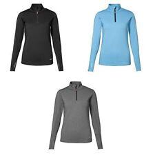 Polyester Zip Neck Sweatshirts for Women