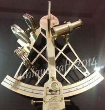 "Heavy Brass Nautical Sextant 10"" Royal Vintage Marine Ship Working Item ."