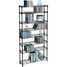 Multimedia Storage Cabinet Stand Tower DVD CD Rack Shelf Organizer Media Book