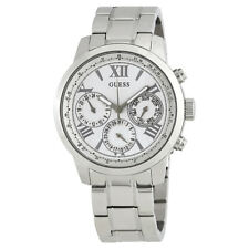 Guess Sunrise White Dial Ladies Multifunction Watch W0330L3