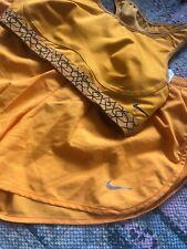 Nike Orange Dri Fit Sports Bra And shorts Set size S