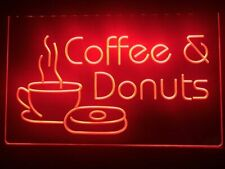 Donuts Coffee Led Neon Light Sign Open Cafe Bar Decor Sport Gift Advertise New